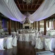 Ceiling Decor, Lighting and Chair Covers at the Gallery