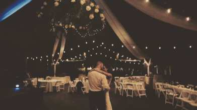 Setting the mood with lighting and draping